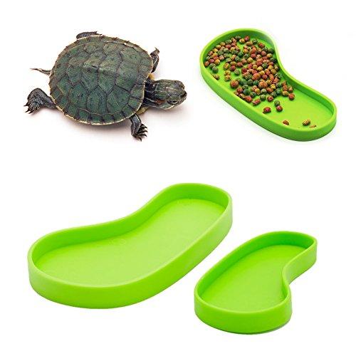 Qupida Reptile Feeder, Food Dish Water Fountain For Turtle Aquatic Pet Supplies (S)