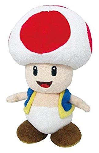 "Nintendo Official Super Mario Toad Plush, 8"""