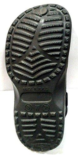 DEMA pantofole ciabatte UNISEX in GOMMA modello CROCS grigio scuro
