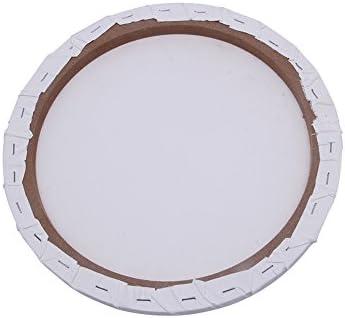 Lienzo redondo en blanco de algodón acrílico arte artista pintura al óleo: Amazon.es: Hogar