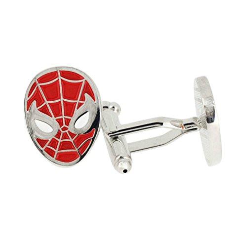 Marvel (Captain America) Spiderman Mask Cufflinks w/Gift Box By Athena