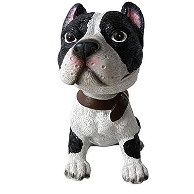 Pit Bull Bobble Head Pitbull Gift, Pitbull Mom, Dad Gift (Black/White): Toys & Games