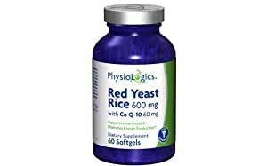 Amazon.com: PhysioLogics Red Yeast Rice 600mg w/ CoQ10
