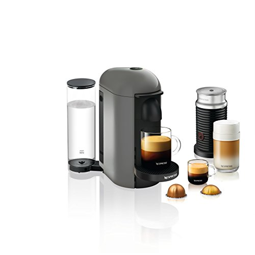 Nespresso VertuoPlus Coffee and Espresso Maker by Breville with Aeroccino, Grey by Breville