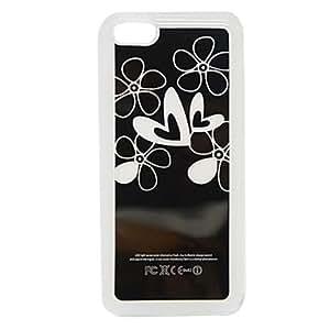 Mini - New Sense Flower Heart Flash Light LED Color Changing Hard Case for iPhone 5C , Color: Black