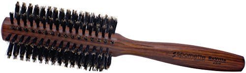 Spornette Deville 2 Inch Round Boar Bristle Hair Brush (#314) - Round Brush for Blow Drying, Styling, Curling, Blowouts, Beach Waves, Adding Volume and Lift to Medium Hair Lengths. Great For All Hair