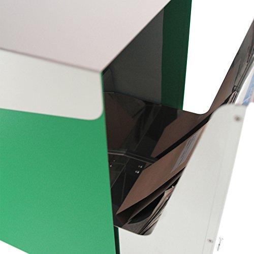 KATANABOX ''Mega'' - Stainless Steel Post-Mount Modern Design Mailbox, Lockable (Red) by KATANABOX (Image #5)