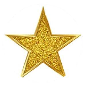 alfombrilla de ratón estrella de oro, brillo, estrella, oro, estrella de oro - ronda - 20cm