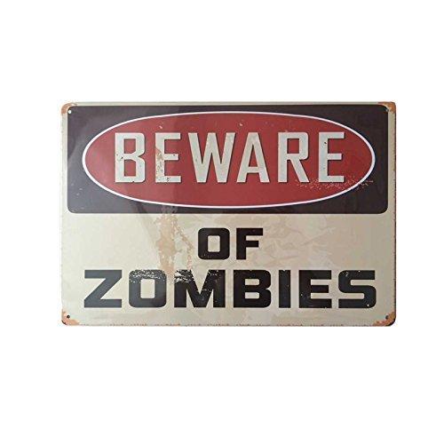 Decoración de pared carteles de estaño diseño Vintage, muy diferente de los zombis metálica decorativa para el hogar,...