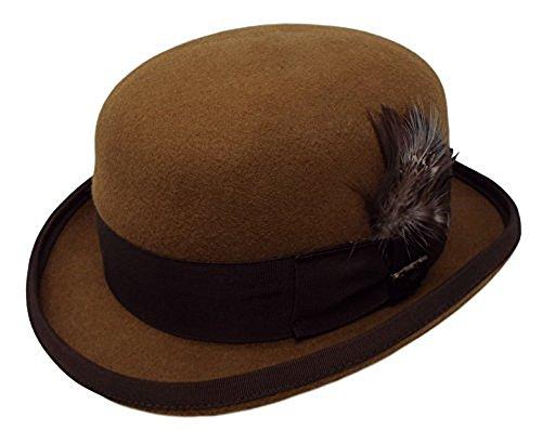 Bellmora Bowler Hat Wool-One Fresh Hat (Cognac, XX-Large) -