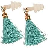 Turquoise Tassel Rhinestone Sleeping Earplugs