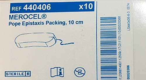 Medtronic Merocel Pope Epistaxis Packing Size 10 cm, REF 440406 (Box of 10) by Merocel Pope Epistaxis (Image #2)