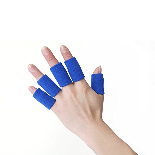 Jiele Finger Protector Sleeve, Professional Sports Guard support extensible Finger Protector Sleeve en nylon Basketball doigt, prise en charge de l'arthrite Sports Aid X10