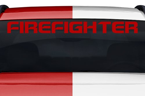 Sticky Creations - Firefighter Spaceage Font Letters Lettering or Custom Text Windshield Decal Sticker Vinyl Graphic Back Rear Window Banner Tailgate Car Truck SUV | 36