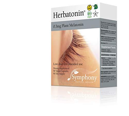 (Herbatonin 0.3mg - The Only Natural Plant Melatonin - 90 Vegan Capsules (90 Day Supply) Low Dose Melatonin, Natural Sleep and Circadian Rhythm Support)