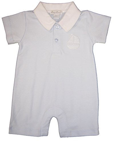 Kissy Kissy Baby-Boys Infant Sunday Outing Short Playsuit With Collar