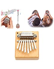 Mini Thumb Piano 8 Key Kalimba Finger Piano, Portable Finger Piano, Thanksgiving for Family, Great Gifts for Kids, Adults and Beginners