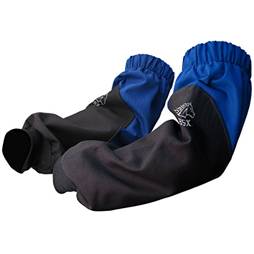 Revco BX9-19S-RB BSX Reinforced Fire Resistant Sleeves, Royal Blue/Black  (One Pair)