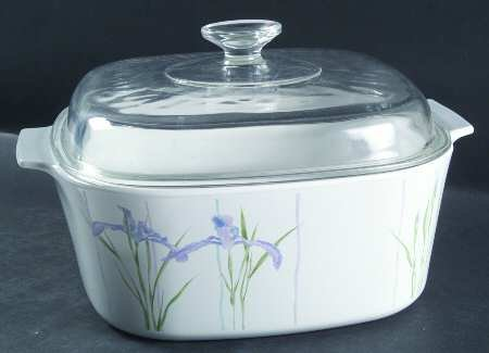 Iris Casserole (Corning Shadow Iris 5 Quart Covered Casserole)