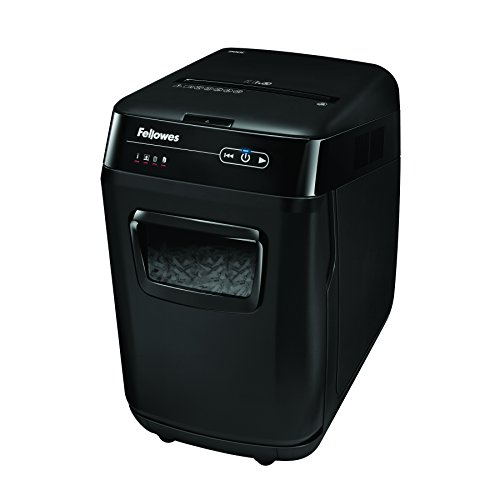 - Fellowes AutoMax 200C 200-Sheet Cross-Cut Auto Feed Shredder, for Hands-Free Shredding (4653501)