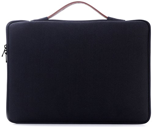 ProCase 14 - 15.6 Inch Laptop Sleeve Case Protective Bag for 15'' MacBook Pro 2016, Ultrabook Notebook Carrying Case Handbag for 14'' 15'' ASUS Acer Lenovo Dell HP Toshiba Chromebook Computers -Black by ProCase (Image #7)