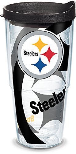 - Tervis 1290792 NFL Pittsburgh Steelers Tumbler With Lid, 24 oz, Clear
