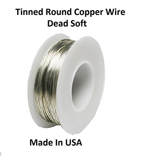 Modern Findings 20 Ga Tinned Copper Round Wire 80 ft. Spool