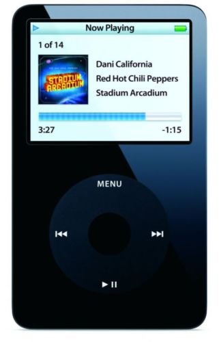 Good for Apple iPod Classic Video 5th Generation 30gb MP3 Player+Screen Protector (Black)