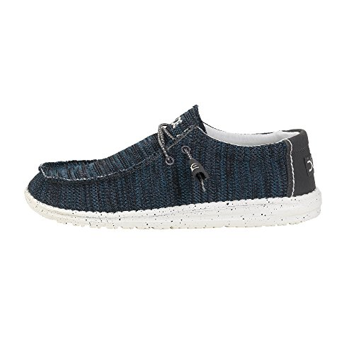 Dude Shoes Men's Wally Sox Knit Grey Azur Blue