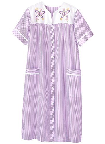 AmeriMark Embroidered Stripe Duster Lilac