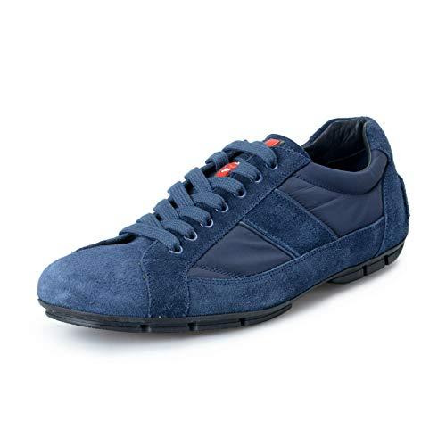 Suede Prada Sneakers - Prada Men's Blue Suede Leather Fashion Sneakers Shoes US 9 IT 8 EU 42
