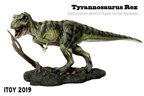 Itoy 1/35 サイズ グリーン ティラノサウルス・レックスT-REX Tレックス ジュラシック プラモデル 大きい 恐竜 リアル スタチュー フィギュア PVC 大人 おもちゃ 動物 生物 模型 プレゼント オブジェ プレミアム 40cm級 ベース付き オリジナルボックス 塗装済 完成品