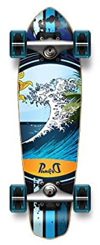 MiCro CRUISER Blank Graphic Complete Longboard – 25 X 7 , WAVE
