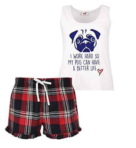 My Pyjama Vert Travail Can Écossais 60 Ensemble Have Limited Life Femmes Second Carlin À Better Volants I Dur Rouge So Court Bleu A Makeover xwg0IA