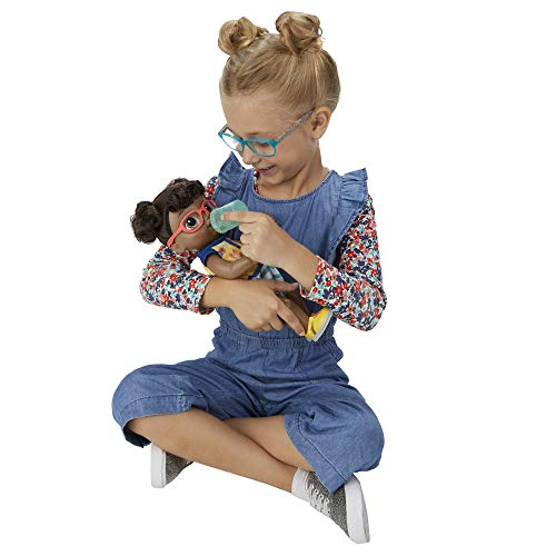 Image of Baby Alive Step 'N Giggle Baby Black Hair Doll with