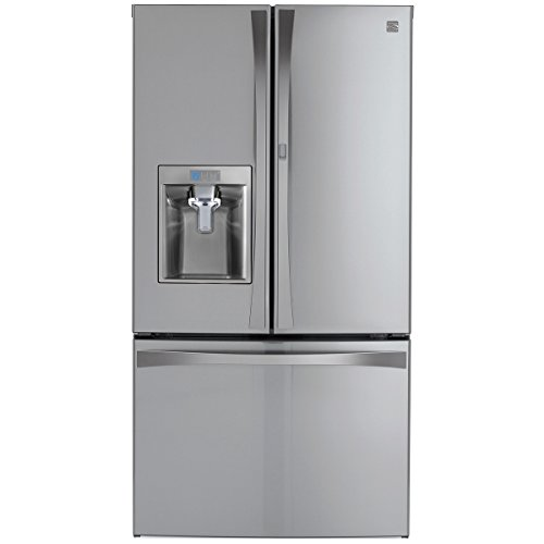 Kenmore 04673165 Elite 28.5 cu. ft. Bottom Freezer Refrigerator with Grab-N-Go Door with Active Finish, Stainless Steel