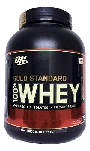 Optimum Nutrition Gold Standard 100  Whey Protein Powder  Delicious Strawberry  5 Pound