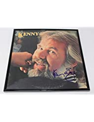 Kenny Rogers Kenny The Gambler Signed Autographed Lp Record Album with Vinyl Framed Loa