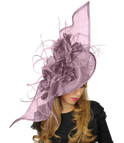 36 Inch Elisaveta Ascot Fascinator Hat With Headband - Lilac
