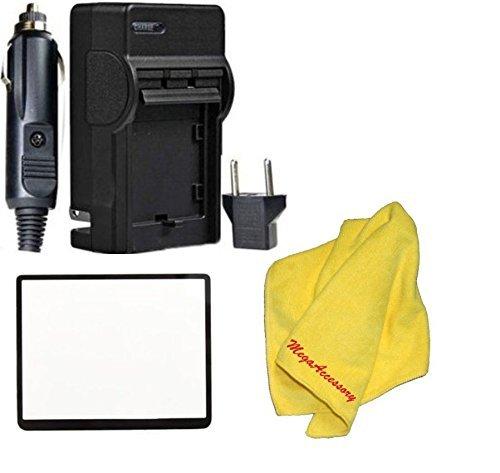 nb11l NB - 11l用充電器PowerShot ELPH 110、ELPH 130、ELPH 135、ELPH 140、ELPH 150、ELPH 160、ELPH 170、ELPH 320、ELPH 340、a2300 , a2400 , a2600 , a3400、a4000、sx400、sx410 +布+スクリーンプロテクター B017JGBGI2