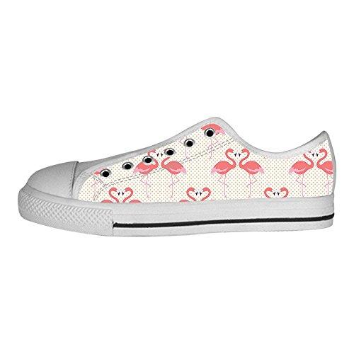 Delle Scarpe Canvas Alto Tetto Shoes I Lacci Flamingo Da Ginnastica Modello Women's Custom BdeWrxoC