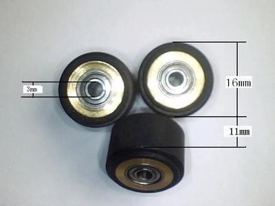 6pcs 3x11x16mm China Chinese cutting plotter vinyl cutter pinch roller wheel Japan bearing+copper+rubber by everluminous