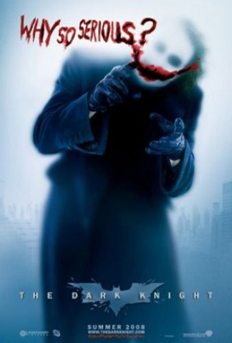 (Batman - The Dark Knight - Movie Poster (The Joker - Why So Serious - Blue Background) (Size 27'' x 39'') (By POSTER STOP ONLINE))