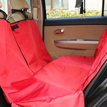 Uniqus Nonslip Folding Car Rear Back Seat Cover Pet Cat Dog Cushion Mat, Size  154 x 140 x 42 cm (Red)