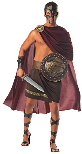 UHC Men's Spartan Army Warrior Gladiator Outfit Halloween Fancy Costume, XL (44-46)