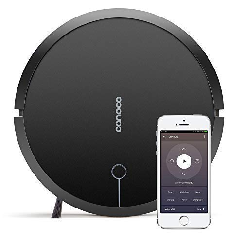 CONOCO 1705 Robotic Vacuum Cleaner with Strong Suction, for Low-Pile Carpet, Hard Floor, Wi-Fi Connected