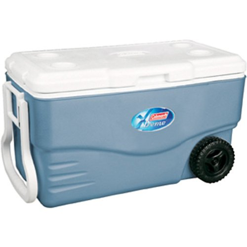 Coleman 100 Quart Wheeled Cooler made our list of camping safety tips for families who RV and tent camp