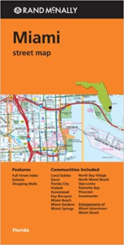 miami beach shopping map Buy Rand Mcnally Street Map Miami Florida Book Online At Low miami beach shopping map