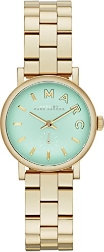 Marc by Marc Jacobs MBM3284 Ladies Minty Gold Baker Watch