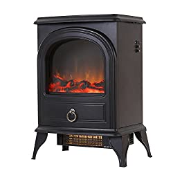 "Valuxhome Puregate 22"" 750W/1500W, Compact Free Standing Electric Fireplace Heater from Valuxhome"